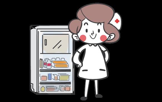 Nurse-with-fridge